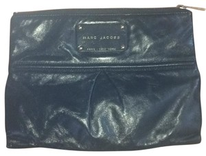 Marc Jacobs black with gold writing Clutch