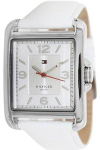 Tommy Hilfiger Tommy Hilfiger 1781197 Women White Leather Bracelet With Silver Dial