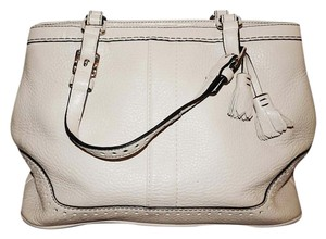 Coach Poppy Signature Tote in Cream