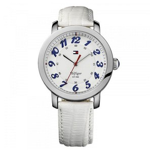 Tommy Hilfiger Tommy Hilfiger 1781232 Women's White Leather Bracelet With White Dial