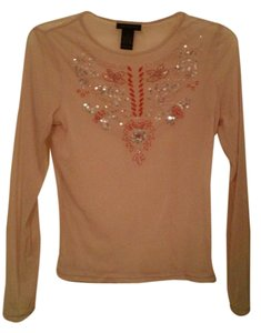The Limited Sheer Embellished Floral Longsleeve Nylon Top Lilac