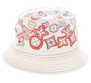 Louis Vuitton Ivory multicolor LV monogram Louis Vuitton Tahitienne Bucket Hat S