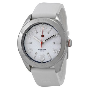 Tommy Hilfiger Tommy Hilfiger 1781255 Women's White Silicone With White Dial Watch