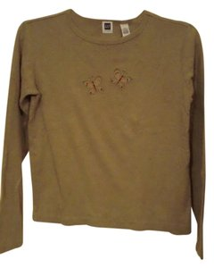 Gap Longsleeve Cotton T Shirt Olive Green
