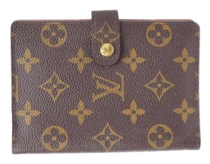 Louis Vuitton Agenda Cover Diary Monogram Brown Clutch