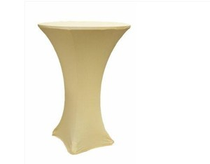 (5) Spandex Cocktail Table Covers- Champagne