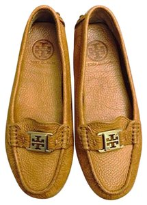 Tory Burch Kendrick Loafer Square Toe Brown Leather Flats