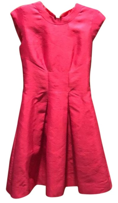 Item - Pink Twill Bow Fit-and-flare Short Cocktail Dress Size 4 (S)