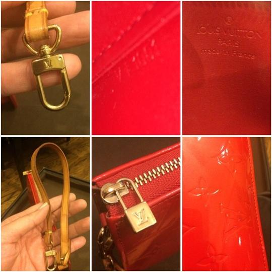 Louis Vuitton Monogram Vernis Leather Patent Leather Pochette Coin Purse Wallet Long Wallet Monogram Clutch Monogram Pochette Damier Shoulder Bag