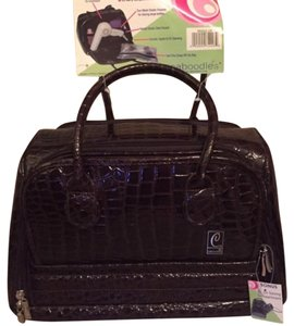 Caboodles Stunning Large Brown Croc Train Case