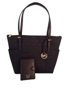 Michael Kors Top Zip Fulton Passport Tote in Black