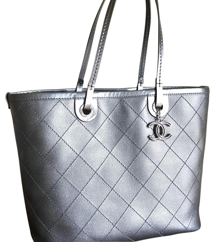 d783869ca98c Chanel Shopping Fever Charcoal Leather Tote - Tradesy
