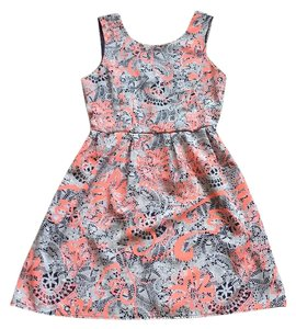 One Clothing short dress Navy, coral and white print on Tradesy