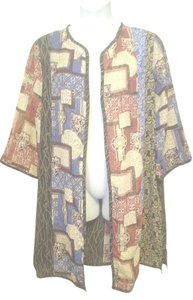 Koos Of Course Long Panel Block 3/4 Sleeve Fly Open Duster Tunic