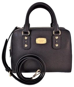 Michael Kors Saffiano Leather Small Satchel in Black