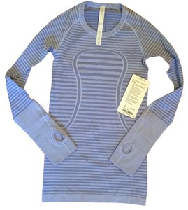 Lululemon NWT LULULEMON SWIFTLY LONG SLEEVE CREW LUCY STRIPE HEATHERED LULLABY SZ 2