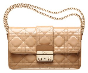 Dior Patent Gold Hardware Cross Body Bag
