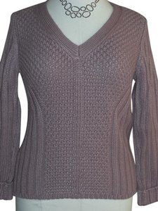 Calvin Klein Crochet Cableknit Cashmere V-neck Sweater