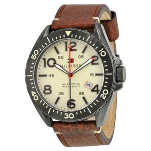 Tommy Hilfiger Tommy Hilfiger 1791133 Men's Brown Bracelet With Beige Dial