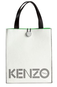 Kenzo x H&M Geniune Leather Tote in White/ Black