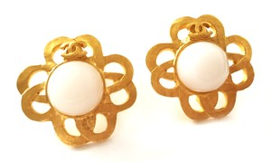 Chanel Chanel Gold and Pearl CC Vintage Earrings