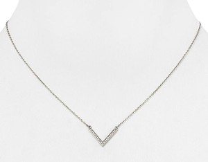 Michael Kors Michael Kors Arrow Pendant Necklace Silver Crystal Pave with dust bag
