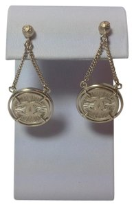 Chanel NWT Chanel CC Coin Drop Dangle Pierced Earring Spring 2006