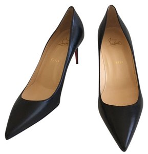 Christian Louboutin Red Bottoms Decollete Leather Black Pumps