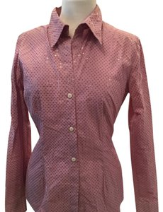 New York & Company Button Down Shirt Rose