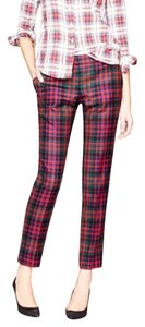 J.Crew Straight Pants red and black