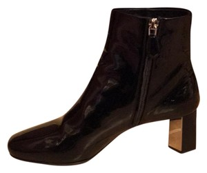 Prada New Ankle Patent Leather Black Boots