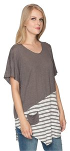Johnny Was Linen Asymmetrical Scoop Neck Artsy Eclectic Tunic