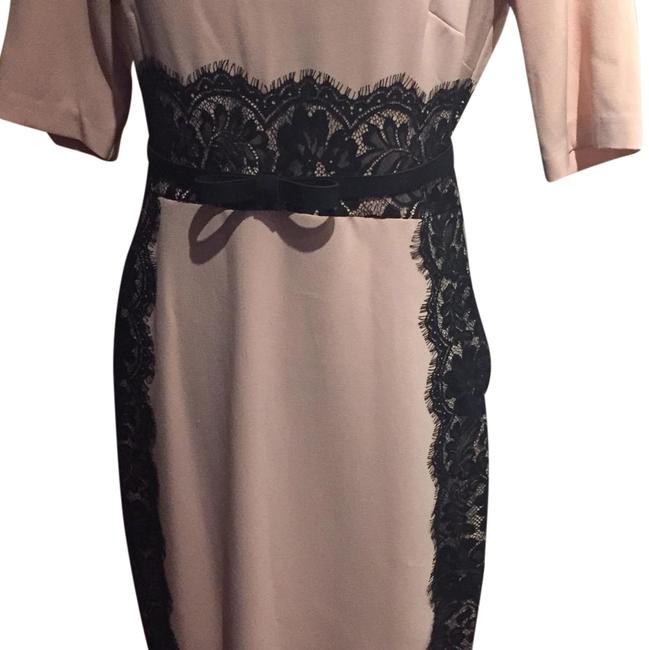 Julian taylor pink and black ny knee length night out for Julian alexander wedding dresses