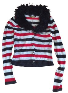 Miss Sixty Knit Strip Top Black and Red