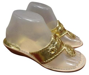 Jack Rogers Leather Comfortable gold Sandals