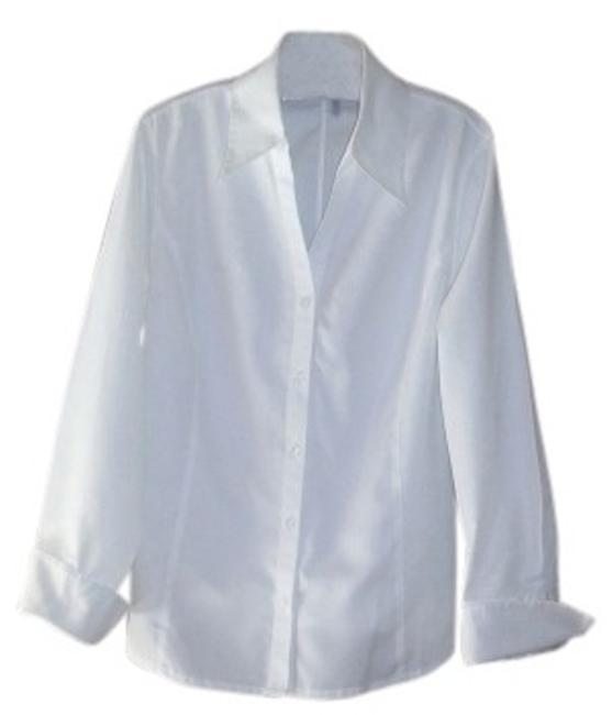 Preload https://item4.tradesy.com/images/classiques-entier-white-tailored-shirt-blouse-size-12-l-20158-0-0.jpg?width=400&height=650