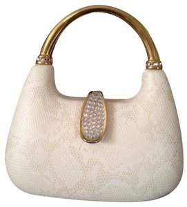 Satchel in Ivory Snake Leather