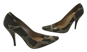 Stuart Weitzman Style Heels Multi color snakeskin and leather fever Pumps