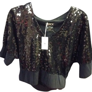 LaROK New Sequin Couture Top Black