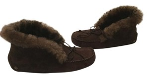 UGG Australia Suede And Dark Brown Sheepskin Low Moccassin style S/N Boots