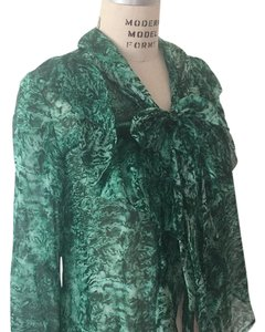 Oscar de la Renta Top Green