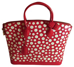 Louis Vuitton Satchel in Red / White Dots