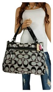 Coach Tote in Black/Silver/Pink