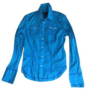 Diesel Shirst Western Shirts Back Embroidery Top light blue