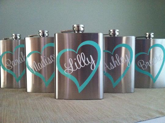 Personalized Bridal Party & Groomsmen Flasks