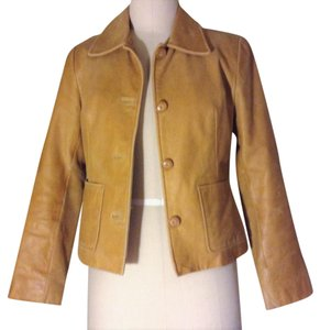 Frenchi Camel tan Leather Jacket