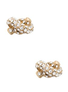 Kate Spade NEW Kate Spade Gold Tone Sailor's Knot Pave Studs