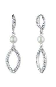Givenchy Givenchy Silvertone Simulated Pearl Drop Earrings