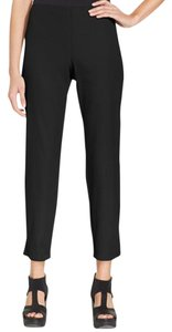 Eileen Fisher Ankle Cotton Elastic Capri/Cropped Pants Black