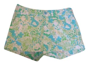 Lilly Pulitzer Mini/Short Shorts Green and Blue